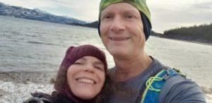 Ilana and Greg selfie at Lake Laberge