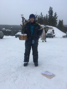 Ilana with trophy and fish at the last Copper Haul League race March 13, 2021